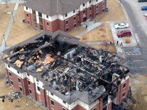 UNO dorm badly damaged by fire to be rebuilt, may be ready for fall