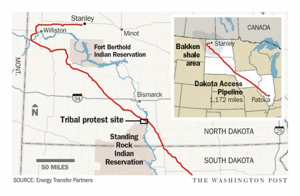 Protests At Dakota Access Pipeline Site Draw To A Peaceful