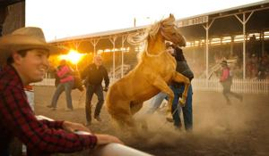Photos, video: Burwell rises to the occasion for Nebraska's Big Rodeo