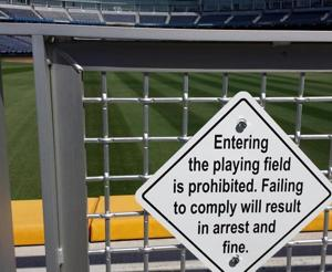 Warning: Stay off the field at CWS