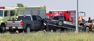1 killed, 1 arrested after car overturns south of Grand Island