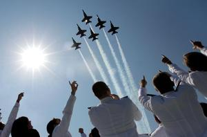 Offutt not affected by budget cuts grounding combat planes, Blue Angels