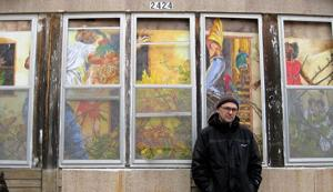 Kelly: Omaha painter turns soon-to-be-razed house into artwork