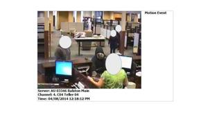 Bank robbery suspect still at large