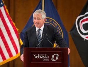 Chuck Hagel makes Taliban joke during UNO talk
