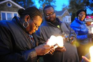 Protesters call for justice after porch killing
