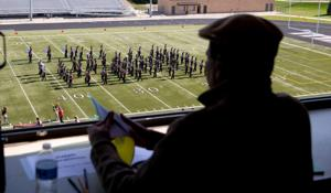 Bellevue East strikes right chord at state marching band contest