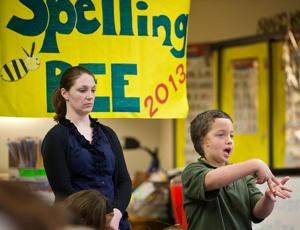 Sounds are few, but words abound at spelling bee for hearing impaired