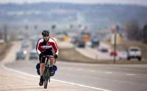 Hansen: Daily trek on Highway 370 is bicyclist's day in the park