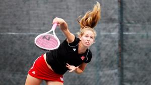 NU's Mary Weatherholt wins opening match, prestigious award