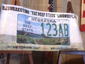 Nebraska beef backers push special $70 'Beef State' license plate