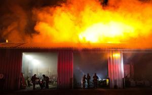 Carter Lake warehouse fire