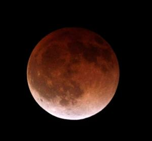 Lunar eclipse was visible in the Omaha area