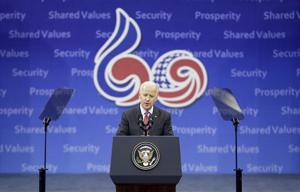 Biden: Asia's growth a chance to bend history