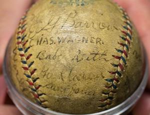 For $175K, you can own Papillion man's 1918 baseball signed by Babe Ruth