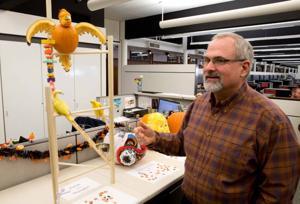 What happens when an architect carves a pumpkin?