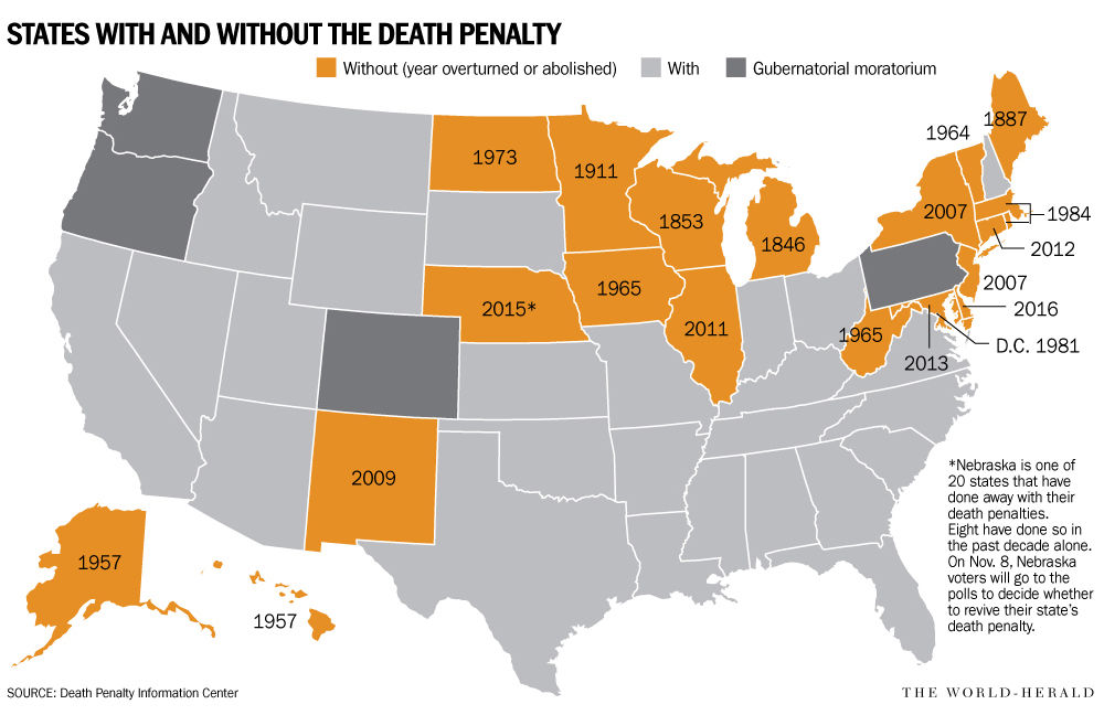 evolution of capital punishment Since 2007, new jersey, new york, new mexico, illinois, connecticut, delaware, maryland, and nebraska have abolished capital punishment, but there is an active effort to reinstate it in nebraska more history of racial injustice calendar highlights.
