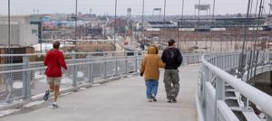 Planning under way to expand pedestrian bridge to downtown, TD Ameritrade Park