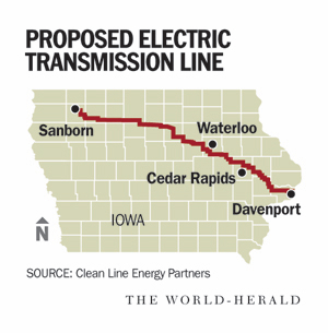 Clean Line would carry wind power across Iowa