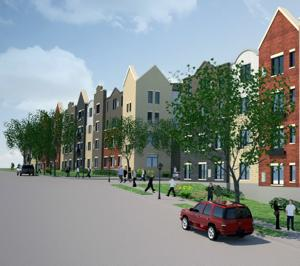 New plan for 430 apartments at 70th, Cass would have urban style