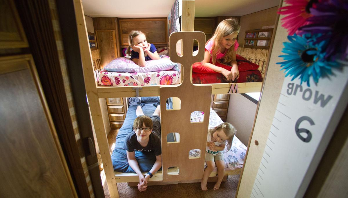 family of 6 moves into an rv just until its tiny houses
