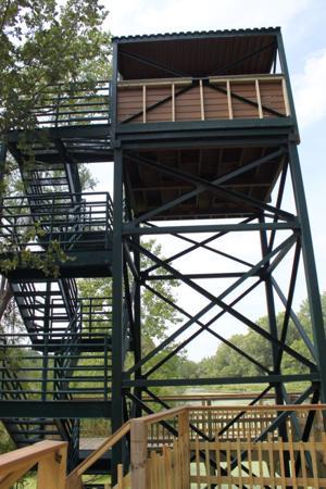 Former Rosenblatt Stadium tower now used to view wildife at zoo's Safari Park