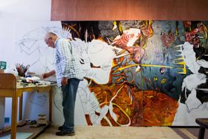 Creighton artist began Wounded Knee series 13 years ago ... and he's still painting