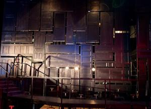 More than 160 doors make up the set to Opera Omaha's 'Bluebeard's Castle'