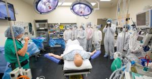Omaha Central High anatomy students get a taste of real hospital work