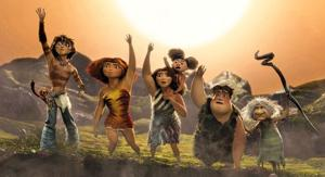 Brains and brawn both win in fun 'Croods'