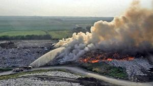 Sarpy County Landfill catches fire