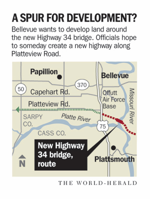 With bridge to I-29 coming, Bellevue seeks to get site south of Offutt 'shovel ready'