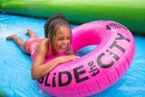 'Lots of smiles and laughs' — It's smooth sailing for Slide the City in Papillion