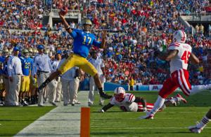 It's another handful for Huskers with Bruins' Hundley