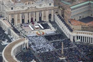 Popes John XXIII and John Paul II proclaimed Catholic saints