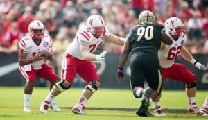 Right guard doesn't leave Husker Mike Moudy sweating