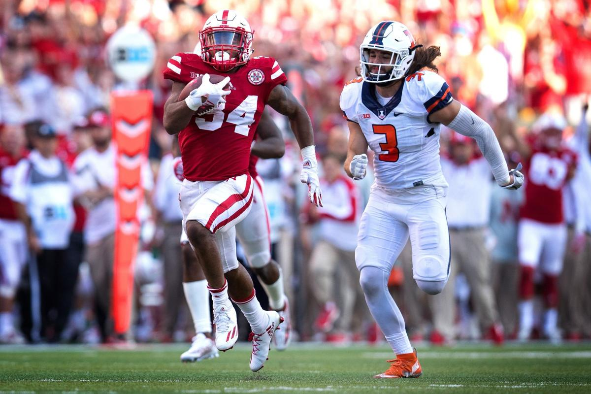 Image result for Terrell Newby touchdown vs illinois