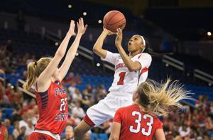 NU's Laudermill finds her range