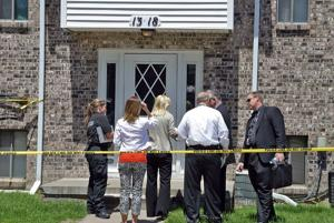 Police officers shoot man at apartments