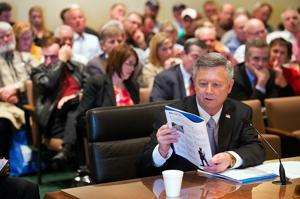 Gov. Heineman has few allies on tax plan