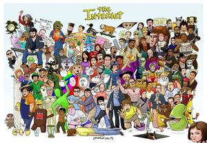 Out there: The Internet in one poster!
