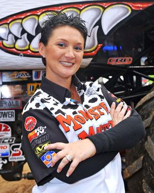 Former beauty queen now drives a monster truck (and better than a lot of the guys)