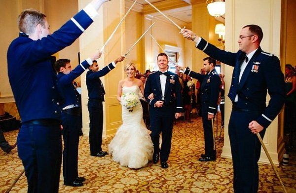 Military air force wedding wedding essentials for Air force decoration guide