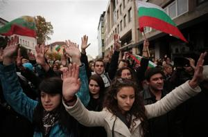 Bulgarian students demand end to govt corruption