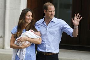 Royal couple, baby head home