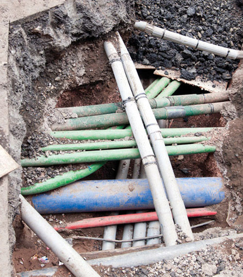 Utility Pipes And Cables : A mess of spaghetti under there maze pipes and