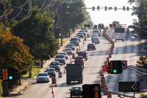Dodge traffic restricted to two lanes from 29th to 52nd Streets.