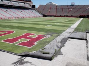 Tearing up the turf at Memorial Stadium