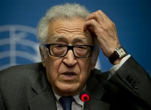Brahimi: Syria peace talks slow but 'still at it'
