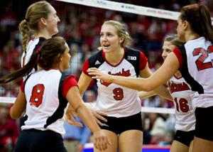 Huskers block Michigan's path, win eighth straight